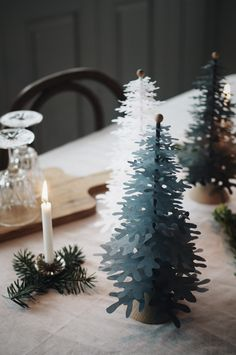inspiration for decoration a Christmas table