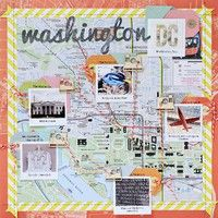 I want to do this with my maps of Paris!     A Project by LynnGhahary from our Scrapbooking Gallery originally submitted 05/21/12 at 09:52 AM