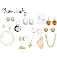 Classic Jewelry by expressingyourtruth on Polyvore featuring Anne Klein, Ann Taylor, Brooks Brothers, Allurez, Michael Kors and Orelia