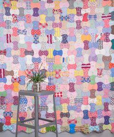Vintage Quilt - Vintage Feedsack Fabric Quilt - Apple Core Quilt Pattern