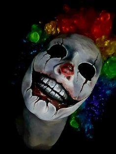 Creepy clown makeup                                                                                                                                                                                 More