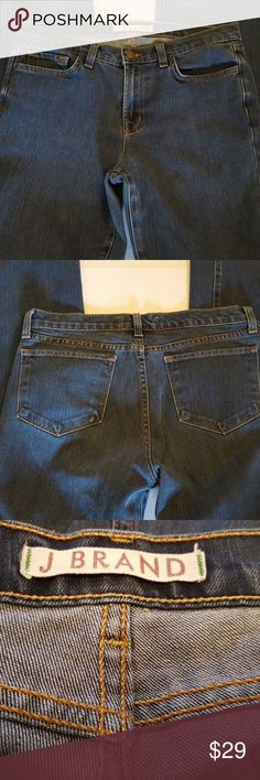 """J BRAND Blue Stretch Slim Boot Cut Jeans  30x34 J BRAND Blue Stretch Women's Slim Boot Cut Jeans Size 30x34 Funky. """"Excellent preowned condition. They do show a little wear but they are awesome pair jeans.Label states 29, measures 30x34"""" J Brand Jeans Boot Cut"""