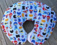 Superhero Nursing Pillow Boppy Cover Baby Boy by LovePitterPatter