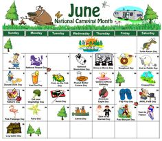 Free downloadable holiday calendar for June!  Keep track of random holiday fun!  #calendar