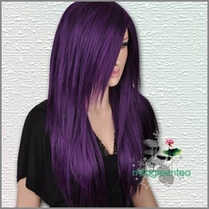 purple hair.... I could do this, too bad I know from the same color highlights it won't last long :(