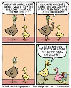 tastefullyoffensive:  Bonus Panel(comic by fowl language comics)