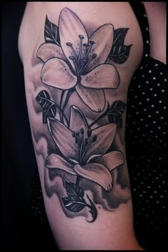 Beautiful lily tattoo