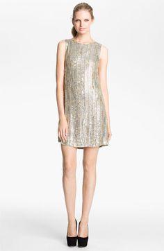 Alice + Olivia 'Leighton' Embellished A-Line Dress | Nordstrom