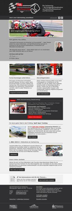 #mailingwork gestaltet #Newsletter #Template für Sachsenring GmbH.  #Newsletterdesign #Email #Emailmarketing