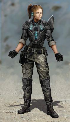 ArtStation - Military Heroine Render 2, Thomas Randby