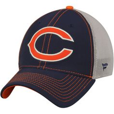 add50ec04 Chicago Bears NFL Pro Line by Fanatics Branded Modern Classic Stretch Fit  Flex Hat – Navy