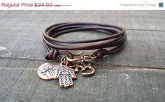 20% OFF leather layered triple wrap bracelet tree of life boho bracelet simple stacking bracelet earthy bracelet antique brown leather by PeaceLilyCreations on Etsy https://www.etsy.com/listing/232388350/20-off-leather-layered-triple-wrap