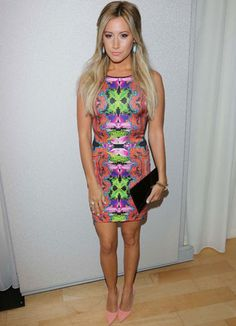 Ashley Tisdale in an aztec dress