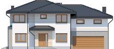 DOM.PL™ - Projekt domu ARP EMILIAN CE - DOM AP2-13 - gotowy koszt budowy Classic House Exterior, Modern Small House Design, Garage Doors, Outdoor Decor, Home Decor, Houses, Home, Architecture House Design, Homes