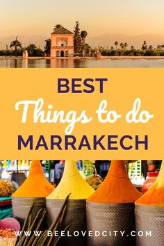 Discover what to do in Marrakech with BeeLoved City! We tell you everything about the best things to do in Marrakech. Perfect to plan your travels in Morocco with easy! This includes beautiful gardens and markets! Marrakech Travel, Morocco Travel, Africa Travel, Marrakech Morocco, World Travel Guide, Travel Guides, Travel Tips, Ancient Greek Architecture, Gothic Architecture