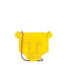 Orla Kiely Lion Purse with Chain Cute Handbags, Beautiful Handbags, Purses And Handbags, Unique Purses, Unique Bags, Diy Purse, Purse Wallet, Wooden Bag, Animal Bag