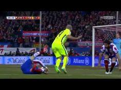 Atletico Madrid vs Barcelona İspanya Kral kupası geniş maç özeti Atletico Madrid 2-3 Barcelona 2015 İspanya derbisi