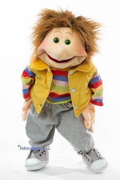 Living Puppets handpop Silvius - Handpoppen.nl People Puppets, Living Puppets, Marionette Puppet, Teddy Bear, History, Animals, Accessories, Design, Faces