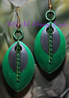 Earrings Chainmaille Scales