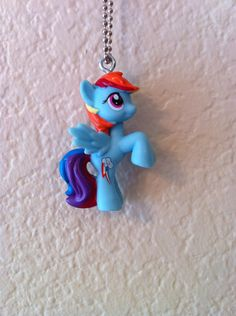 My Little Pony Friendship Is Magic Stained Glass Necklace Keyring Rainbow Dash
