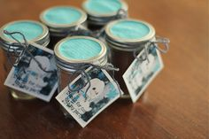 Hot cocoa mix as party favors