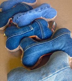 DENIM DOG TOYS, $15.00 (http://www.burlyshirts.com/denim-dog-toys/)