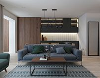Free apartment, a compact stylish living place for young couple that look modern, stylish, and also charming at the same time too. Apartment Interior Design, Home Interior, Decor Interior Design, Interior Ideas, Simple Interior, Minimalist Interior, Living Place, Simple Furniture, Loft Spaces