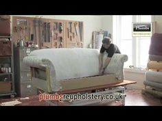 ▶ Upholstery Installing Decorative Tacks In A Wingback Chair - YouTube