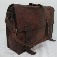 Mens Laptop Bag Macbook Leather Messenger Bags 17inches/inch Pure Genuine Handmade Soft Vintage Leather Briefcase Shoulder Bags Satchel