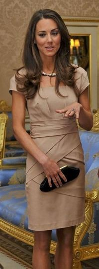 kate middleton - nude reiss dress.