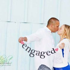 Prop for engagement photo