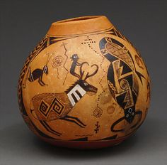 Decorated Gourd by Anthony Canyon (Navajo)
