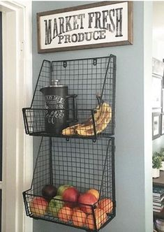 Get produce off the counter! The Best Kitchen Organization Ideas