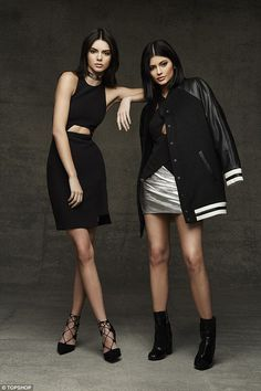 They're back!After the huge success of the sisters' inaugural collection in the summer, Kendall and Kylie Jenner have designed a range exclusively for Topshop just in time for the holiday season (Kendall's dress, £60, Kylie's top, £45, skirt, £95, and jacket £95)