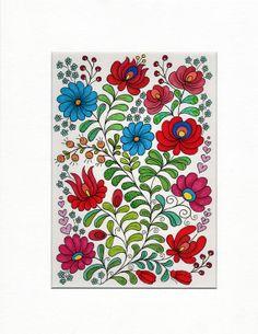 Hungarian Flowers  Original Illustration  by MelaniePearsonDesign, £45.00