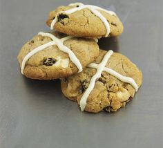 Hot cross cookies. Bored of buns? Try these cute cookies instead - sure to become a family favourite.