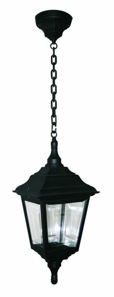 The Elstead Lighting Kerry Porch Chain Lantern Is A 4 Sided In Black Polymer Designed To Withstand Tough Coastal Climates