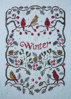 Winter - Cross Stitch Pattern - 123Stitch.com