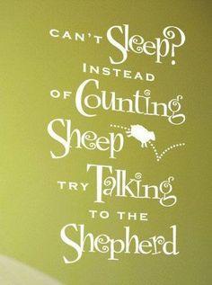 :) talk to the Shepherd