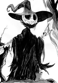 Scarecrow by Gabe Rose for Inktober and @Sketch_Dailies