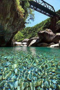 Crystal clear water in Taiwan.