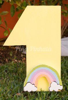 Número de Mesa Arco-Íris 7€ Disponível em pinapinhata.com