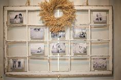 Repurposed Window, Wedding Decor, DIY Rustic Wedding, Wedding Photography • Styled Pink Photography