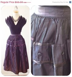 FRIDAY The 13th SALE Midnight PURPLE Vintage 1950s by hipsmcgee, $24.75