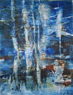 Zonder titel, 2013, acryl op papier, 50 x 65 cm.