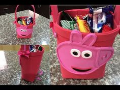 como hacer un dulcero peppa pig, how to make birthday bag peppa pig. video completo - YouTube