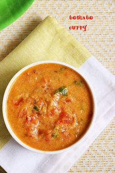 Tomato curry recipe, restaurant style tomato curry, side dish for doss or idli or rotis!