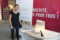 Mathilde de Colnet (Innovation responsable 2014) présente sa cuisine accessible au Gerontopôle