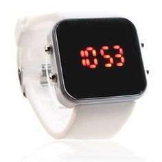 Tanboo Unisex Silicone Style Sports Red LED Wrist Watch (White) by Tanboo Watchs. $7.99. Digital red LED display. Adjustable silicone strap. Ideal gift for all occasions. Stylish red LED wrist watch for men and women. Sports Fan Watch. Gender:Women's, Men'sMovement:LEDDisplay:DigitalStyle:Wrist WatchesType:Sport Watches, Fashionable WatchesBand Material:SiliconeBand Color:WhiteCase Diameter Approx (cm):4.1 x 3.9Case Thickness Approx (cm):1Band Length Approx (cm):24
