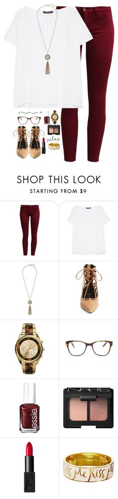 """""""going through these love quotes and thinking about the same person"""" by kaley-ii ❤ liked on Polyvore featuring Sisley, Violeta by Mango, Lucky Brand, Jeffrey Campbell, Michael Kors, Prism, Essie, NARS Cosmetics and Kate Spade"""
